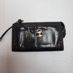 Chloe paddington zipper long padlock wallet